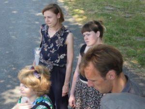 Die Studierenden erfuhren am 31. Mai 2018 während eines Rundgangs durch die KZ-Gedenkstätte Neuengamme von unmenschlichen Arbeitsbedingungen im KZ Neuengamme. Foto: Barbara Hartje.