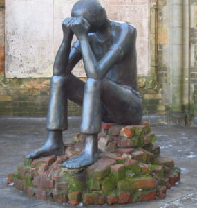 "Picture of the statue ""The Ordeal"" by Edith Breckwoldt"