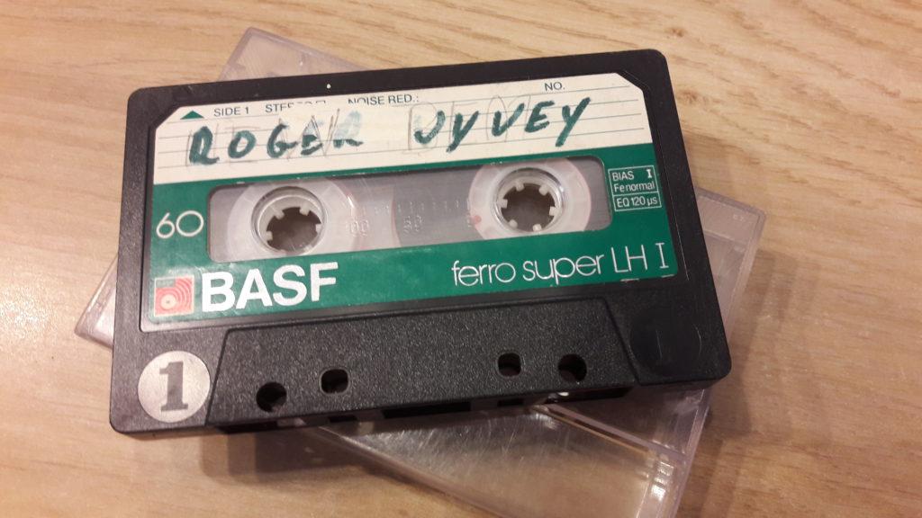 Ma première pièce d'archive concernant Roger Vyvey, la cassette audio qui reprend son témoignage des années 80